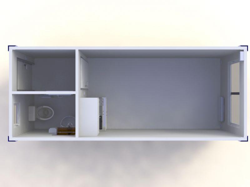 Container dormitor cu toaleta